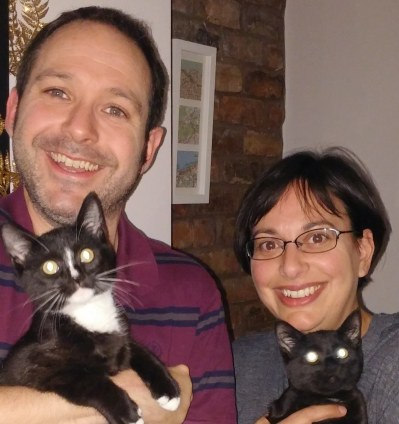 Cat sitters Martin and Catherine